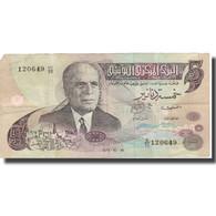 Billet, Tunisie, 5 Dinars, 1973, 1973-10-15, KM:71, TB+ - Tunisie