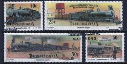 Bophuthatswana Set Of Stamps Celebrating Steam Locomotives From 1991. - Bophuthatswana