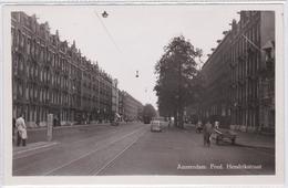 Amsterdam Fred. Hendrikstraat Volk Tram Oude Auto's  1621 - Amsterdam