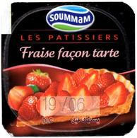 "Opercule Cover Yaourt Yogurt "" Soummam "" Les Patissiers Fraise Strawberry Yoghurt Yoghourt Yahourt Yogourt - Opercules De Lait"