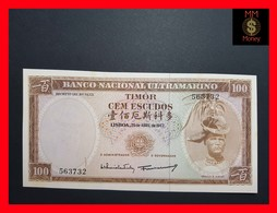 Timor  100 Escudos 25.4.1963 P. 28 UNC STAINS - Timor