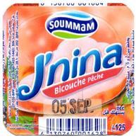 "Opercule Cover Yaourt Yogurt "" Soummam "" J'NINA Bicouche Pêche Peach Yoghurt Yoghourt Yahourt Yogourt - Milk Tops (Milk Lids)"