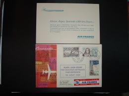 LETTRE TP OBL.25-8 1959 PARIS AVIATION + 1ERE LIAISON AERIENNE PARIS BEYROUTH CARAVELLE AIR FRANCE 25-08-1959 - Airmail