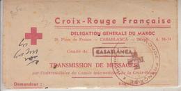 Croix Rouge Française Délégation Générale Du Maroc  Transmission De Message Comité De Casablanca - Croce Rossa