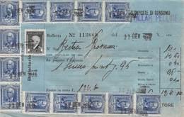 """08286 """"(TO) VILLAR PELLICE - IMPOSTE DI CONSUMO"""" BOLLETTA NR 113609 LUGLIO 1949 - Italia"""