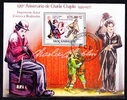 CHARLIE CHAPLIN - 120º Aniversário, Moçambique, 2009 / Private Issue - Fdc - Actors