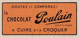 Petite Facture 1939 / Publicité Chocolat POULAIN à Cuire Et à Croquer - Other