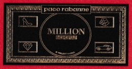 CARTE  PACO RABANNE - ONE MILLION MONOPOLY, VERSO NOIR - Modern (from 1961)