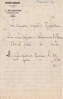 Petite Facture 1922 / J. PEIGNIER / Epicerie Mercerie / 88 Mirecourt Vosges - Other