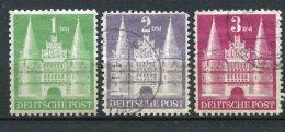 8143  ALLEMAGNE BIZONE  N°65/7 */° La Holstentor De Lübeck    1948   TTB - Zone Anglo-Américaine