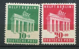 8147  ALLEMAGNE BIZONE  N°69/70 *  10p+5, 20p+10  Aide à Berlin    1948   B/TB - Zone Anglo-Américaine