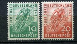 8149  ALLEMAGNE BIZONE  N°74/5 * Quasi ** Tour D'Allemagne Cycliste   1949   TB - Zone Anglo-Américaine