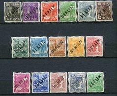 8153  ALLEMAGNE Berlin  N°1/16 * Timbres Des Zones A.A.S De 1947 Surcharge Noire   1948    TTB - [5] Berlin