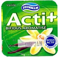 """Opercule Cover Yaourt Yogurt """" Soummam """" Acti + Bifidus Vanille Yoghurt Yoghourt Yahourt Yogourt Old Design - Opercules De Lait"""