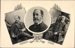 Cp Französische Komponisten, Camille Saint-Saëns, Théodore Dubois, Jules Massenet - Personnages Historiques