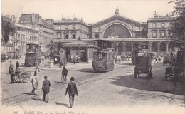 PARIS. LA GARE DE L'EST. LL. TRAMWAY CIRCA 1910's- BLEUP - Panoramic Views