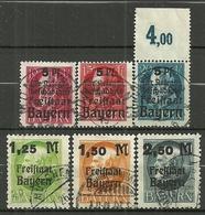Bayern, Nr. 171-176A, Gestempelt - Bavière
