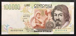100000 Lire Caravaggio II° Tipo Serie Sostitutiva XE 1998 Q.fds Lotto.2234 - [ 2] 1946-… : Républic