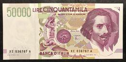 50000 LIRE BERNINI II° TIPO SERIE Sostitutiva XE 1999 Q.fds   LOTTO 2235 - [ 2] 1946-… : République