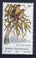 Bophuthatswana Single Stamp Showing The Shaft Tailed Whydah. - Bophuthatswana