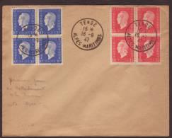 Lettre Obl. Tende 16.09.1947 -> Non Voyagée - Marcophilie (Lettres)