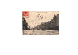 """Carte Postale Noir Et Blanc """" Entrée De La Rue De Villars """" à DENAIN - Denain"""