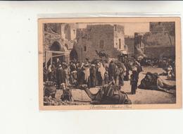 Betlemme, Piazza Del Mercato. Cartolina Viaggiata 1932 Periodo Mandato Britannico. Franc. Asportato - Palestina