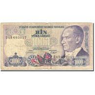 Billet, Turquie, 1000 Lira, 1984-1997, 1986, KM:196, B - Turquie