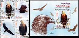 Bangladesh - 2018 - Pallas Fish Eagle - Mint Stamp Set + Souvenir Sheet - Bangladesh