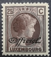 Luxembourg 1928 MLH Officials Grand Duchess Charlotte Overprint OFFICIEL With Gum - Officials