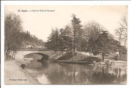 Agen - Canal Et Pont Du Rouquet - Agen