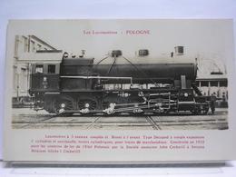 LES LOCOMOTIVES - POLOGNE - LOCOMOTIVE A ESSIEUX COUPLES ET BISSEL A L'AVANT. TYPE DECAPOD - Trains
