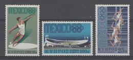 SERIE NEUVE DE CHYPRE - JEUX OLYMPIQUES DE MEXICO N° Y&T 304 A 306 - Zomer 1968: Mexico-City