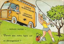 HUMOUR GRIVOIS  SUR LA PÊCHE LOT DE 3 CARTES  .... Avec Camion De La Poste - Humour