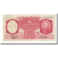 Billet, Argentine, 10 Pesos, Undated (1954-63), KM:270a, TB - Argentine