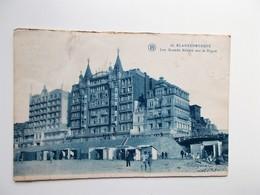CPA - BLANKENBERGHE -  Les Grands Hôtels Sur La Digue 1931 - NO REPRO - Blankenberge