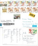 4026h: Lot Bedarfspost Serbien 5 Belege Nach Österreich - Serbien