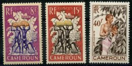 Cameroun (1954) N 297 à 299 * (charniere) - Unused Stamps