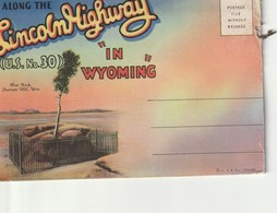 """Souvenir Folder Of Along The Lincoln Highway """"in Wyoming"""" - Great Falls"""