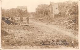 CPA -  80 - SAILLY SAILLISEL,  Allemande - GUERRE 1914 - 1918,  Carte Photo. - Altri Comuni