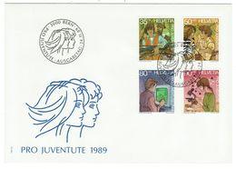 Suisse // Pro- Juventute / FDC / Lettre 1er Jour Série 1989 - Lettres & Documents