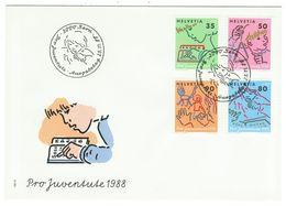 Suisse // Pro- Juventute / FDC / Lettre 1er Jour Série 1988 - Lettres & Documents