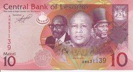 Lesotho  P-21   10 Maloti   2010  UNC - Lesoto