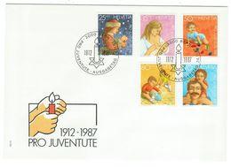 Suisse // Pro- Juventute / FDC / Lettre 1er Jour Série 1987 - Lettres & Documents
