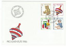 Suisse // Pro- Juventute / FDC / Lettre 1er Jour Série 1986 - Lettres & Documents