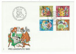 Suisse // Pro- Juventute / FDC / Lettre 1er Jour Série 1985 - Lettres & Documents
