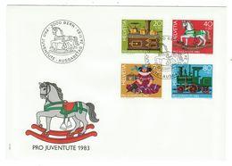 Suisse // Pro- Juventute / FDC / Lettre 1er Jour Série 1983 - Lettres & Documents