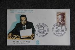 FDC,1967, Albert CAMUS - LOUMARIN, N°605 - 1960-1969