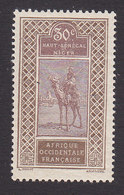 Upper Senegal And Niger, Scott #26, Mint Hinged, Camel With Rider, Issued 1914 - Upper Senegal And Nigeria (1904-1921)