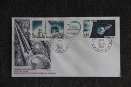 FDC,1965, Mise  Sur Orbite Du Premier Satellite Francais - PARIS - 1960-1969